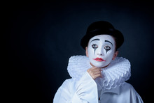 Sad Mime Pierrot