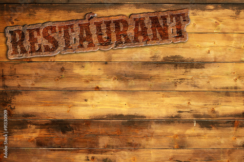 Spoed Foto op Canvas Grill / Barbecue signboard