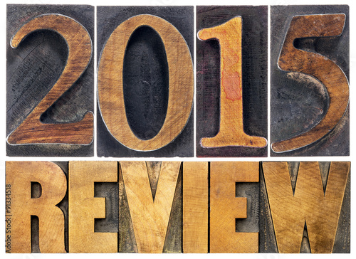 Poster  review of 2015 year typography