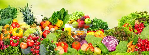 Fresh vegetables and fruits. © Kurhan