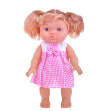 Vintage Doll In Pink Checkered...