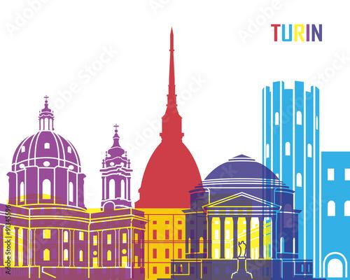 Photo  Turin skyline pop