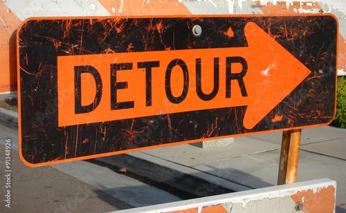 Fotografie, Obraz  Detour sign
