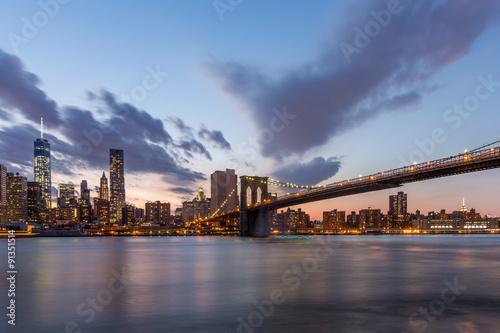 Printed kitchen splashbacks Brooklyn Bridge Brooklyn bridge and downtown New York City in beautiful sunset