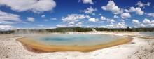 Colorful Geyser Pond