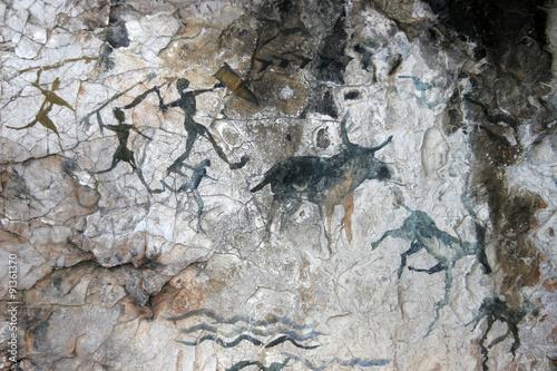 Fotografiet  cave paintings of primitive man