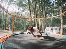 Man Is Doing Trick In Trampoline