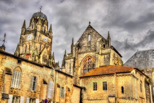 Foto op Aluminium Praag Saint Pierre Cathedral of Saintes - France, Charente-Maritime