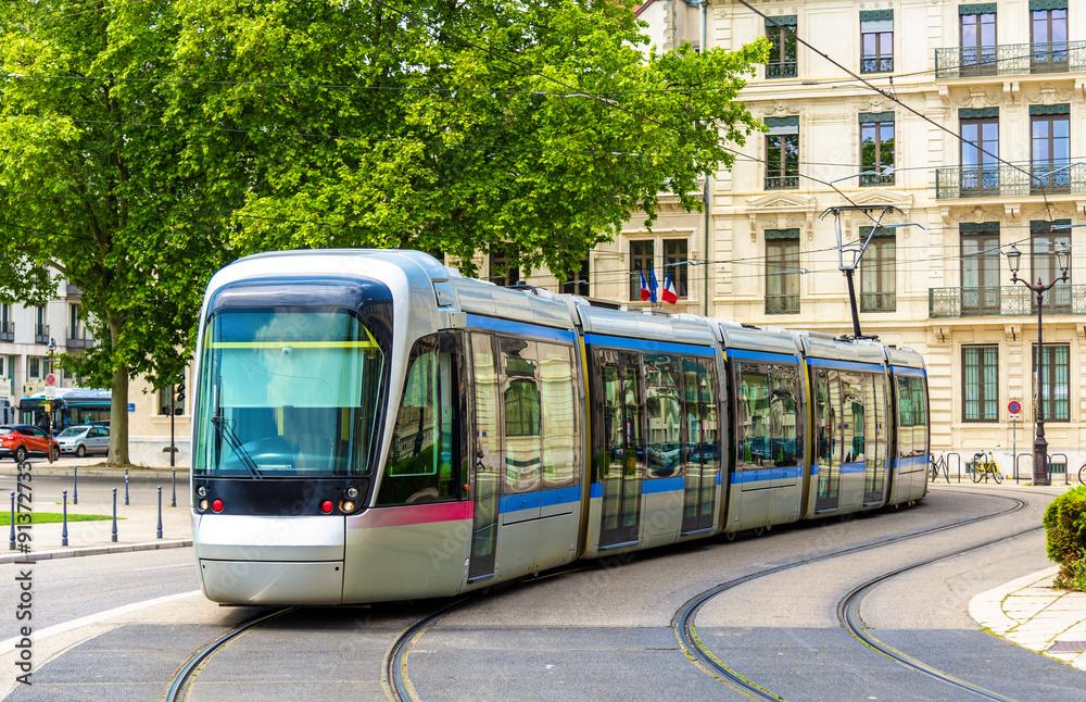 Fototapety, obrazy: Modern tram of Grenoble - France, Rhone-Alpes