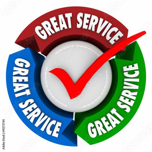 Αφίσα  Great Service Customer Satisfaction Superior Quality Attention H
