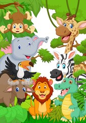 Fototapeta Do przedszkola Wild animal in the jungle