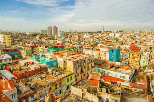 Fotobehang Havana Panorama of Havana city Vedado District