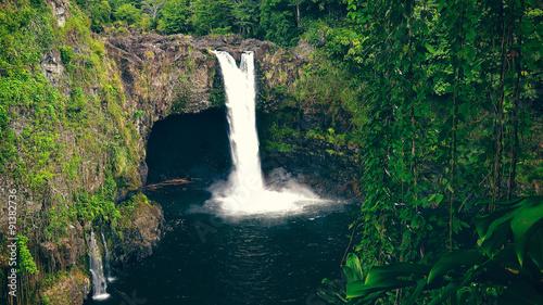 Fotografie, Obraz  Rainbow Falls in Hilo on the Big Island of Hawaii