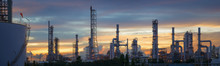 Silhouette Of Petrochemical Pl...