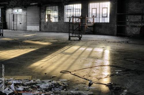 Papiers peints Les vieux bâtiments abandonnés Old Deserted factory