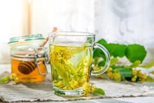 Healthy Linden Tea With Honey