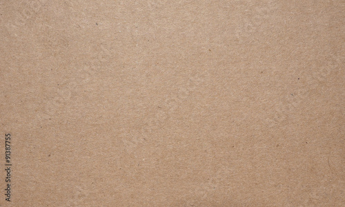 Fotografia, Obraz  Brown corrugated cardboard background