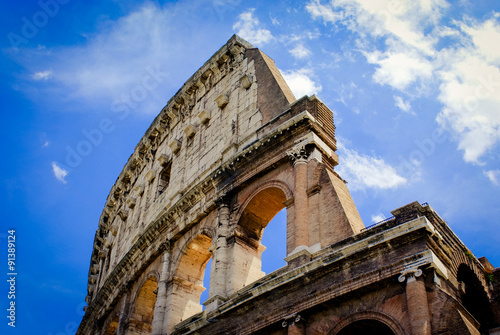 Fotografia, Obraz  Colosseum, Flavian Amphitheatre, on a sunny day with little clouds