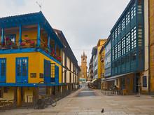 Traditional   Dwelling Houses At  Oviedo. Asturias