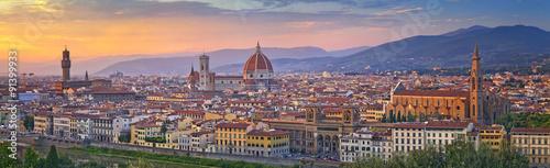 Aluminium Prints Florence Florence Panorama. Panoramic image of Florence, Italy during beautiful sunset.