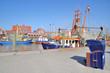 Krabbenkutter im Fischereihafen von Neuharlingersiel,Ostfriesland,Nordsee,Deutschland
