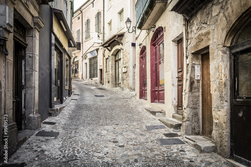 Canvas Prints Narrow alley Gasse in Aubenas, Frankreich