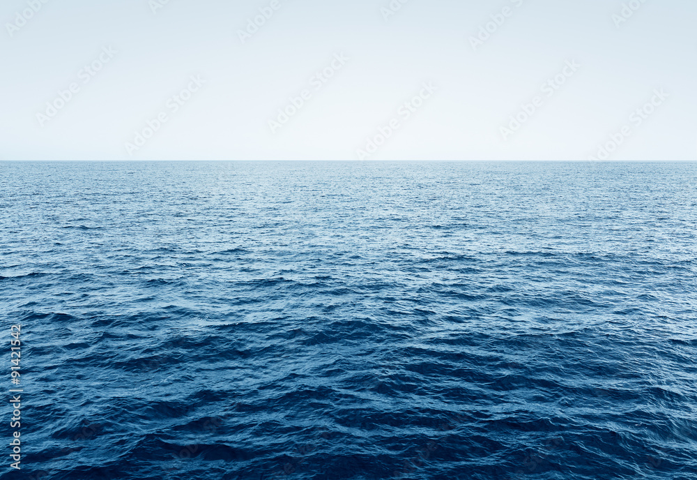 Fototapety, obrazy: Blue Ocean waves and clear blue sky