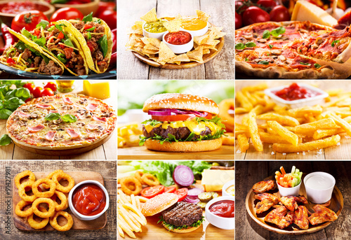 collage of  fast food products © Nitr