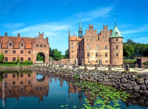 Poster Scandinavie Egeskov Castle on Funen island in Denmark