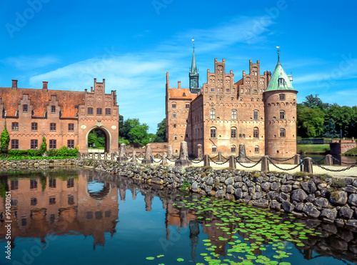 Egeskov Castle on Funen island in Denmark