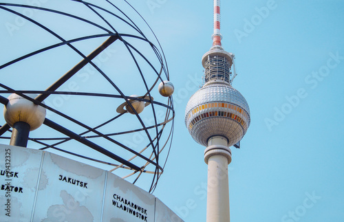 Fotografie, Obraz  Weltzeituhr Berlin