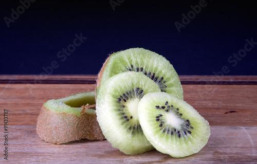 Fotografie, Obraz  Sliced Kiwi