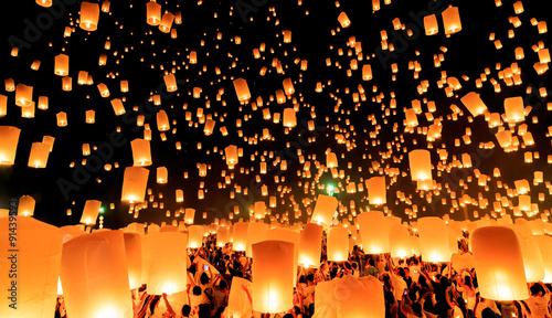 Fotografie, Obraz  yeepeng festival chiangmai thailand
