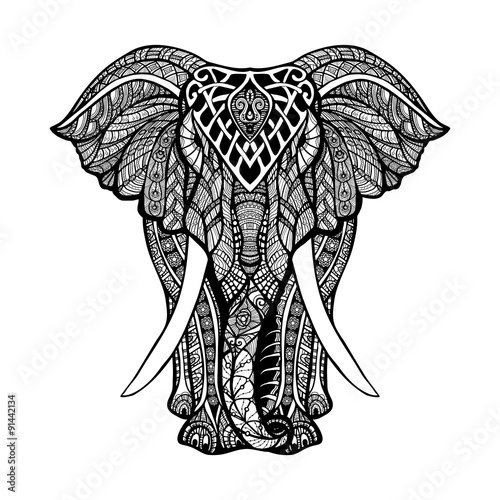Photo  Decorative Elephant Illustration