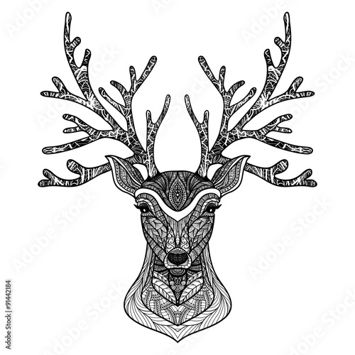 Decorative Deer Portrait