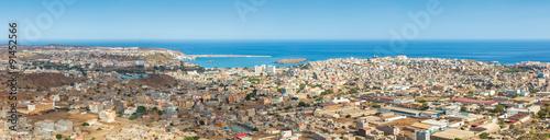 Poster Panoramic view of Praia in Santiago - Capital of Cape Verde Isla