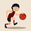 sport basketball athlete flat icon elements background,eps10