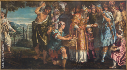 Venice - Sacrifice of Melchizedek in church San Francesco della Vigna Slika na platnu