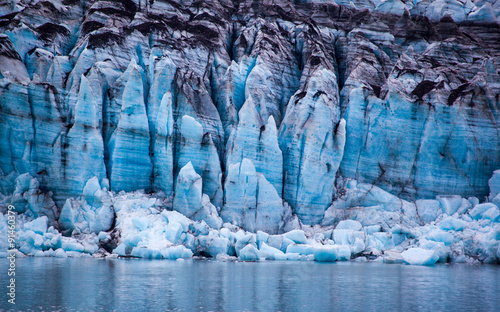 Glacier in Glacier Bay National Park, Alaska