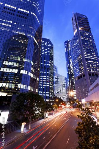 fototapeta na lodówkę Brisbane city. Nights