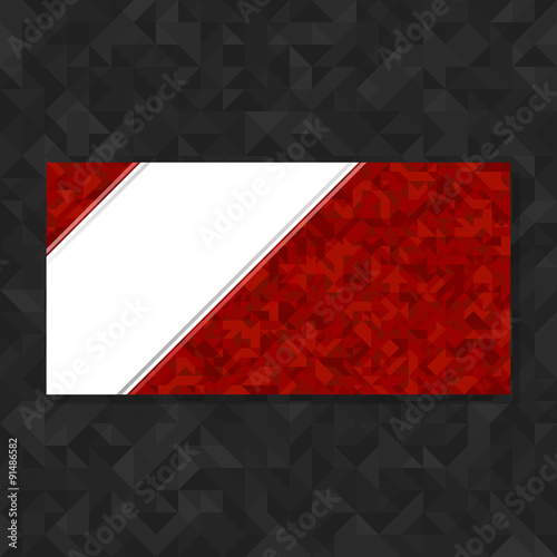 Fototapety, obrazy: Abstract geometric polygonal background. Red futuristic vector background with copy space. Template for flyers, brochures, booklets.