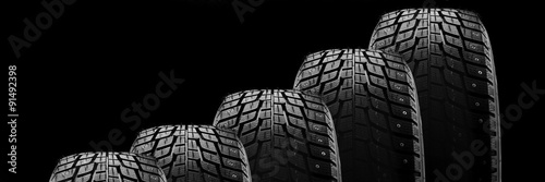 Cuadros en Lienzo Winter tire