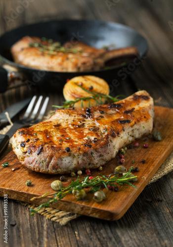 Photo  Pork loin fried