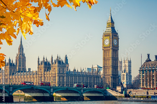 Foto  Big Ben and Houses of parliament, London