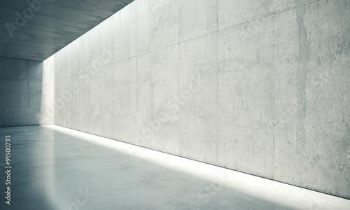 pusta-sciana-wnetrza-z-bialymi-swiatlami-renderowania-3d