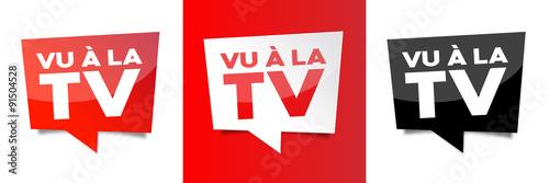 Fotografie, Obraz  Vu à la TV
