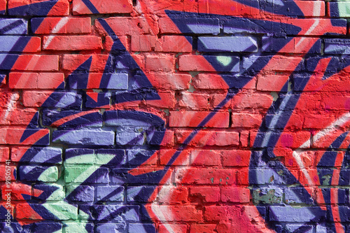 graffiti wall background / closeup © hanohiki