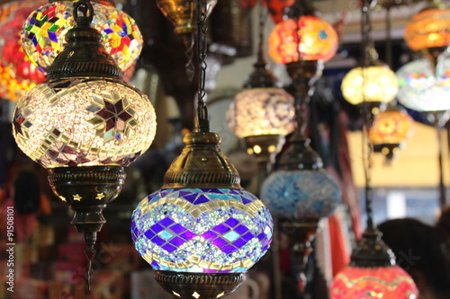 Fotobehang Marokko Lights of Morocco