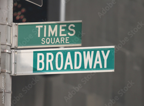 Fotografía  Times Square and Broadway Street Signs