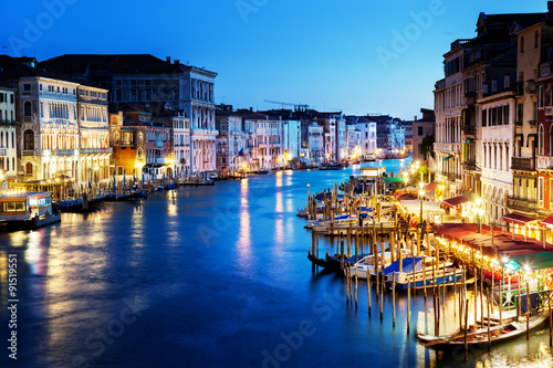 Canvas Prints Grand Canal in sunset time, Venice, Italy